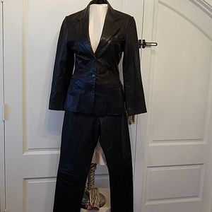 Italian leather pants and jacket